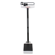 Detecto 338 450 lb/200 kg Capacity Beam Scale w/ Height Rod and Wheels
