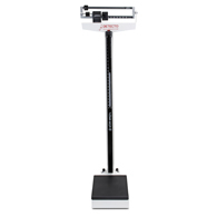 Detecto 438 450 lb Capacity Beam Scale with Height Rod and Wheels